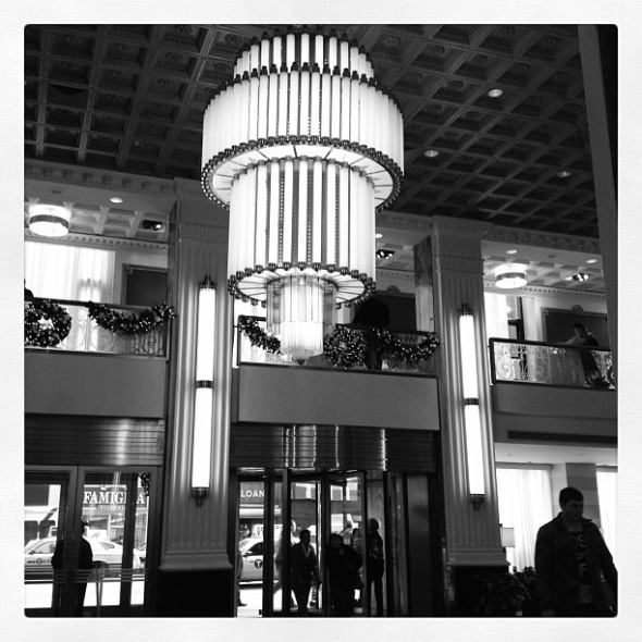 Lobby of the New Yorker Hotel